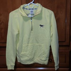 Yellow VS Pink Quarter Zip with Front Pocket